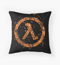 Half Life Splatter Throw Pillow