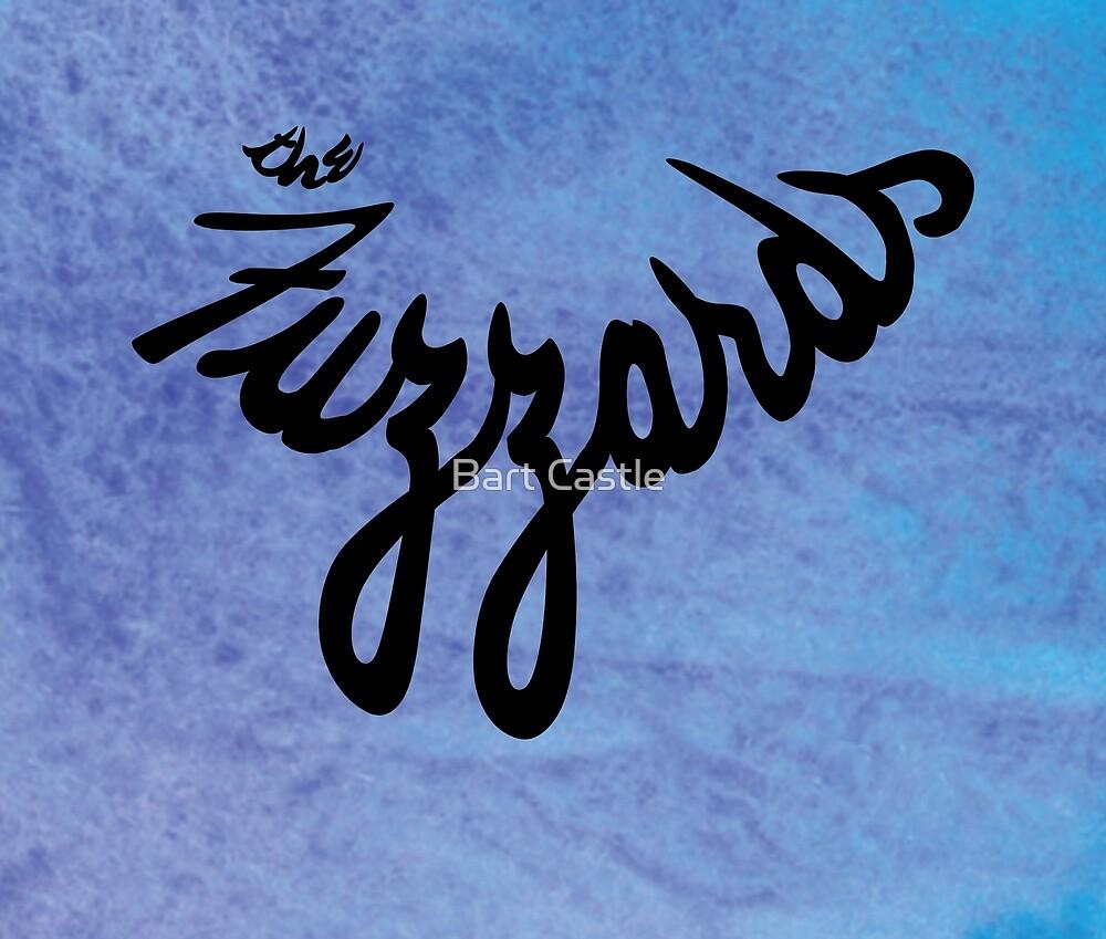 The Fuzzards Trippy Logo on Tie Die by Bart Castle