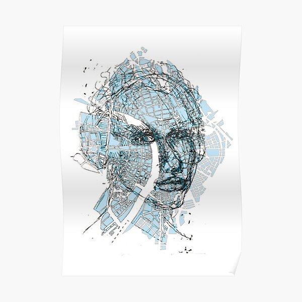 Basel Citymap Artwork | BLUEFACE Poster