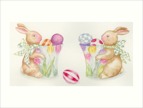 Easter Bunny Egg Sentries by Hajra Meeks