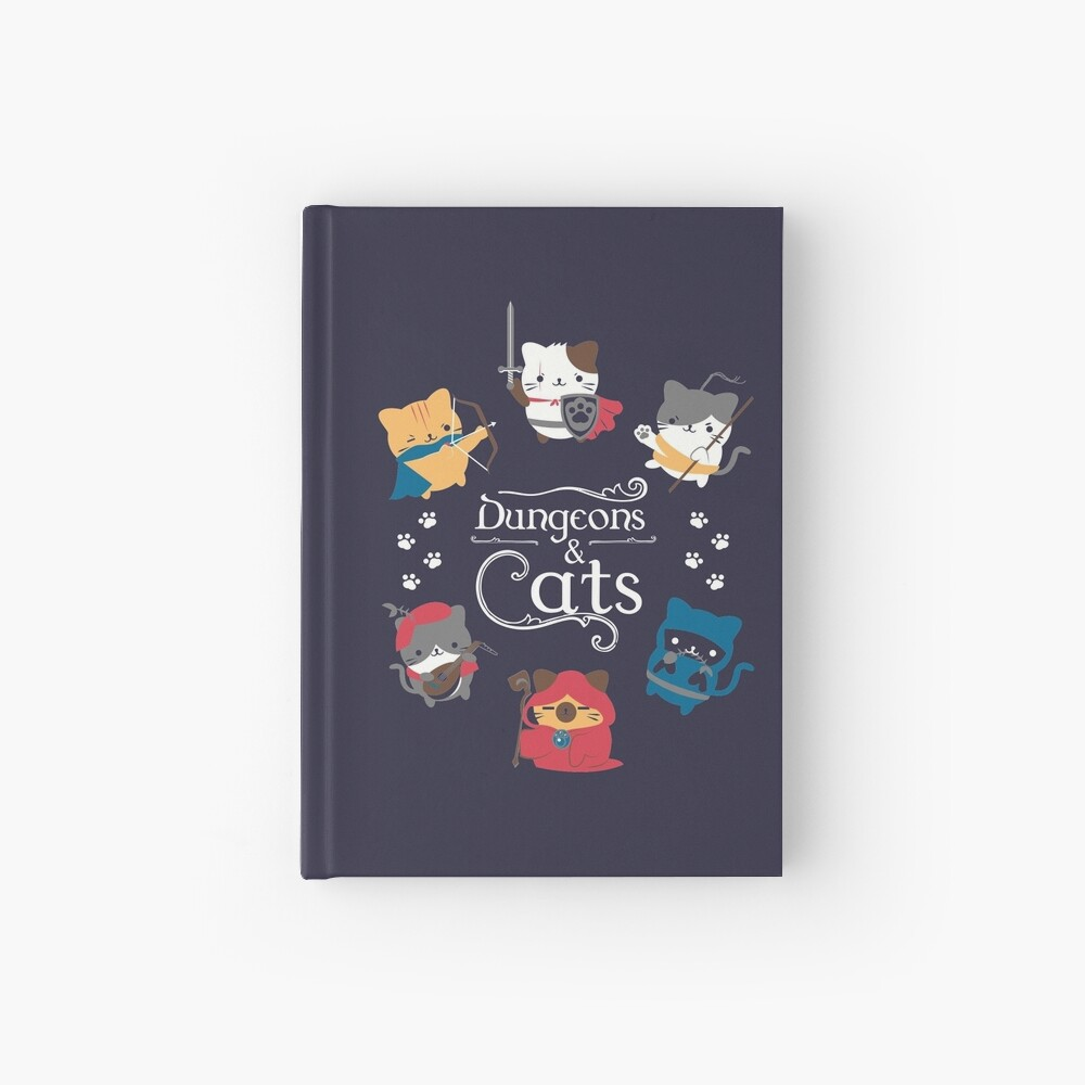 Dungeons and Cats Hardcover Journal