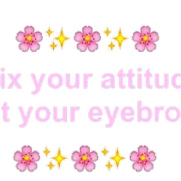 Fix Your Attitude, Not Your Eyebrows by Going-Kokoshop