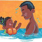 Schwimmen lernen, Eltern und Kind von Meghan Zaremba