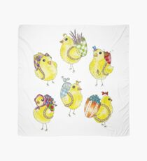 Easter Chicks & Eggshell Baskets Scarf