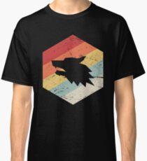 Retro Vintage Wolf Icon Classic T-Shirt