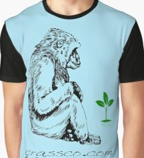 Affe mit Pflanze Graphic T-Shirt