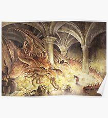 Bilbo and Smaug the Dragon Poster