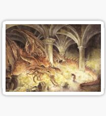 Bilbo and Smaug the Dragon Sticker