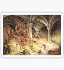 Bilbo und Smaug der Drache Sticker