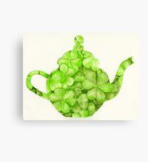 Botanical Clover Teapot Canvas Print