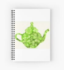 Botanical Clover Teapot Spiral Notebook