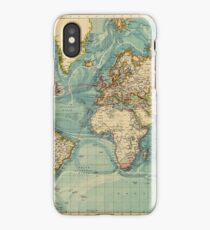 The world, vintage map iPhone Case/Skin