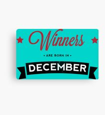 December Winners Canvas Print