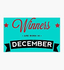 December Winners Photographic Print