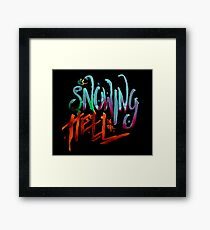 Its snowing in the hell Framed Print