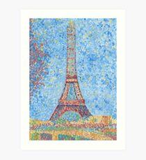 Impressionist Eiffel Tower Art Print