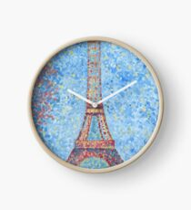 Impressionist Eiffel Tower Clock