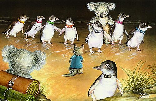 Penguin Parade by Pete Morris
