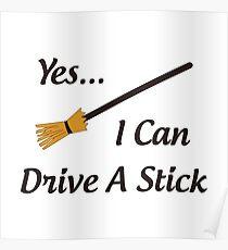 I Drive a Stick Poster