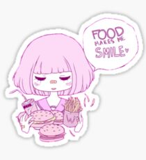 FOOD MAKES ME :) Sticker