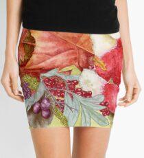 Fancy Fall Fox & Leaves Mini Skirt
