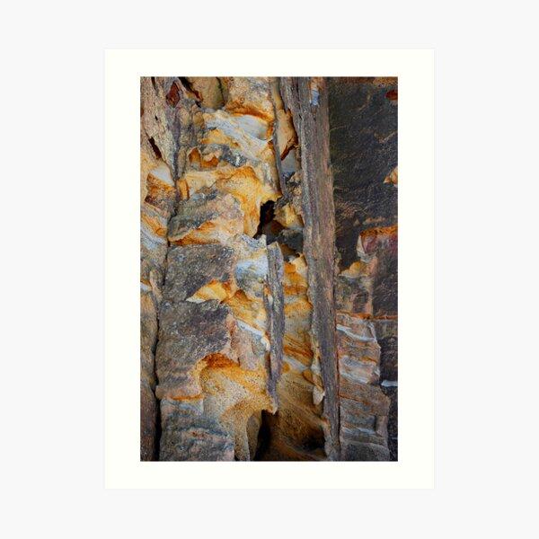 Cliff Colours - Redhead Beach NSW Art Print