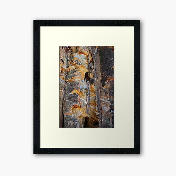 Cliff Colours - Redhead Beach NSW Framed Art Print