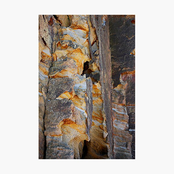 Cliff Colours - Redhead Beach NSW Photographic Print