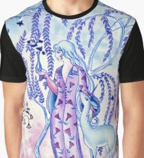 Lady & Last Unicorn Graphic T-Shirt