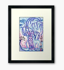 Lady & Last Unicorn Framed Print