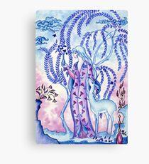 Lady & Last Unicorn Canvas Print