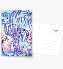 Lady & Last Unicorn Postcards