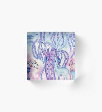 Lady & Last Unicorn Acrylic Block