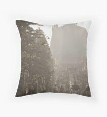 Misty Buddha Throw Pillow