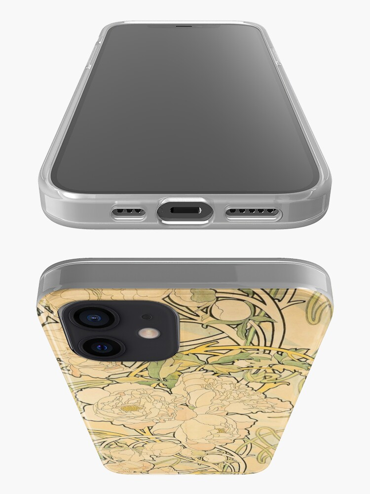 Alternate view of 'Peonies' by Alphonse Mucha (Reproduction) iPhone Case & Cover