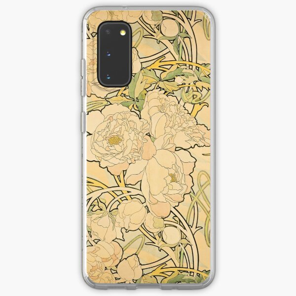 'Peonies' by Alphonse Mucha (Reproduction) Samsung Galaxy Soft Case
