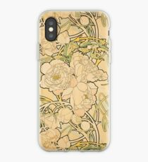 'Peonies' by Alphonse Mucha (Reproduction) iPhone Case