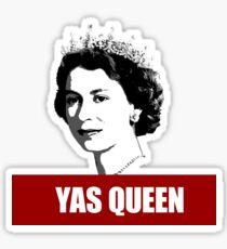 Yas Queen Elizabeth II United Kingdom red white black netflix crown yass  Sticker