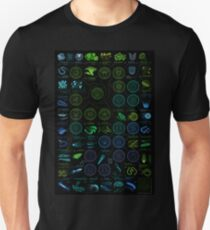 A visual compendium of glowing creatures Unisex T-Shirt