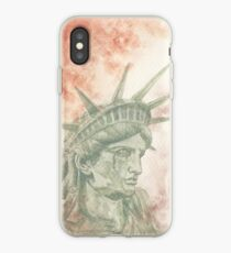 Weeping Lady Liberty iPhone Case