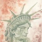 Weeping Lady Liberty by Hajra Meeks