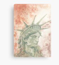 Weeping Lady Liberty Metal Print