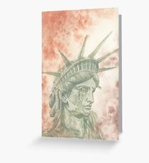 Weeping Lady Liberty Greeting Card