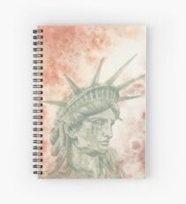 Weeping Lady Liberty Spiral Notebook