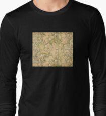 'Peonies' by Alphonse Mucha (Reproduction) Long Sleeve T-Shirt