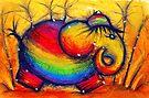 Rainbow Elephant by Karin Taylor