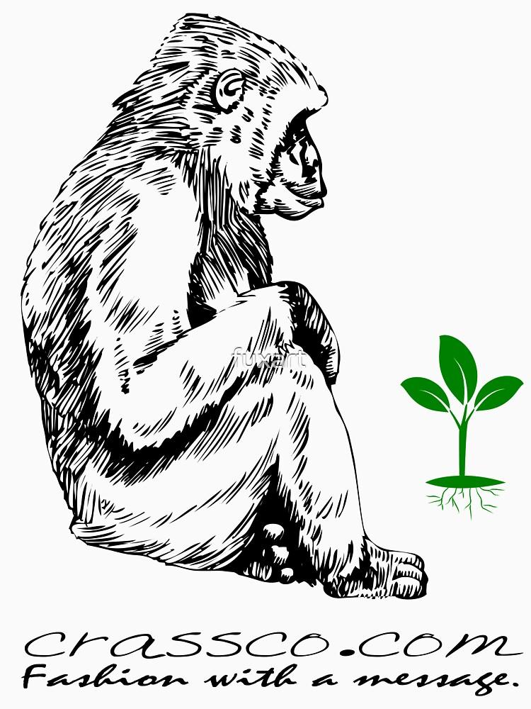 Affe mit Pflanze von fuxart