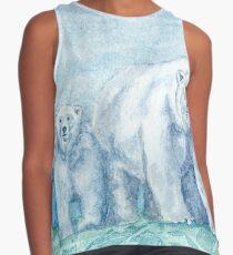 Polar Bear Family Painting Contrast Tank