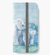 Polar Bear Family Painting iPhone Wallet/Case/Skin