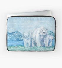 Polar Bear Family Painting Laptop Sleeve